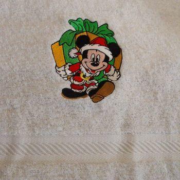 handdoek mickey kerst
